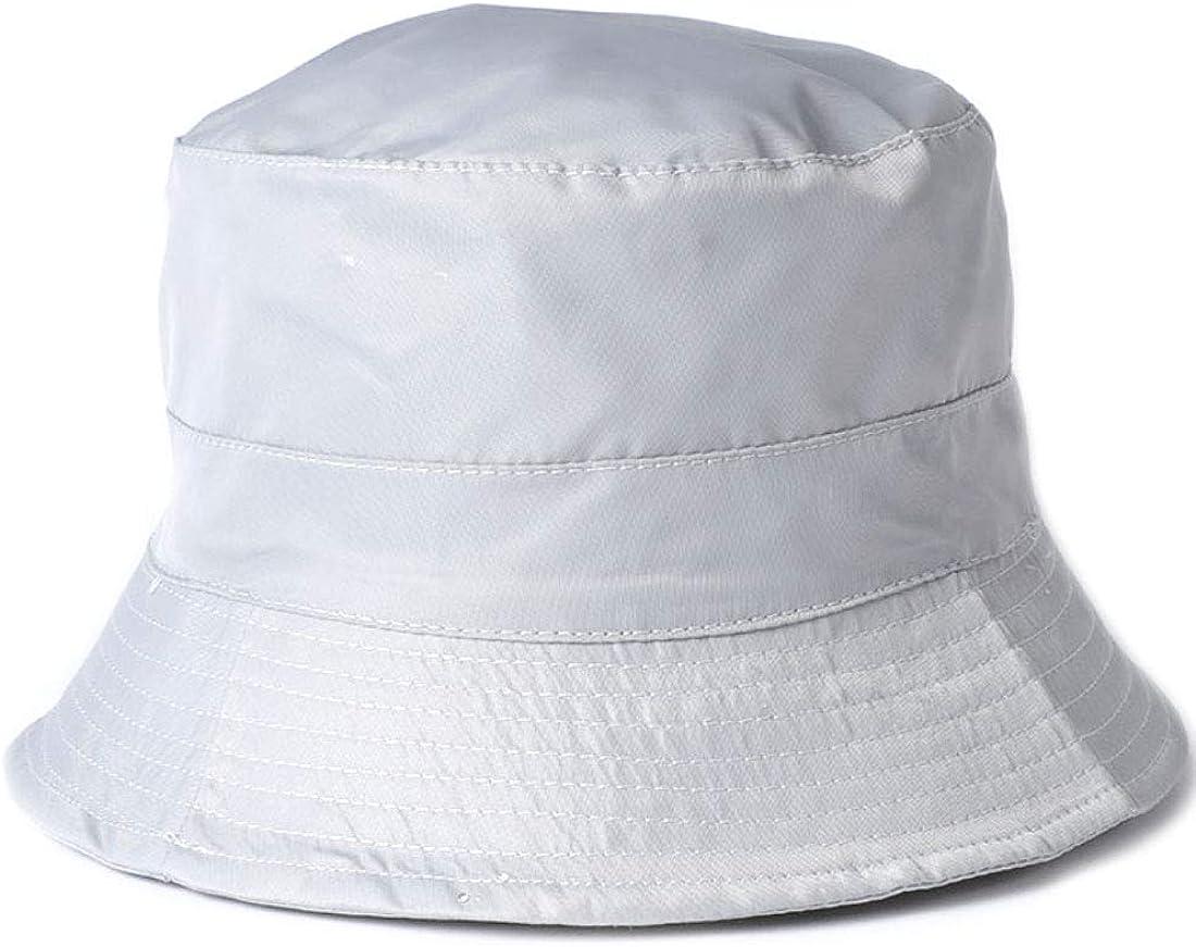 MIRMARU Water Repellent Rain Bucket Hat Drawstring Size Adjustable Packable Travel Outdoor Sun Hat with Zipper Closure.