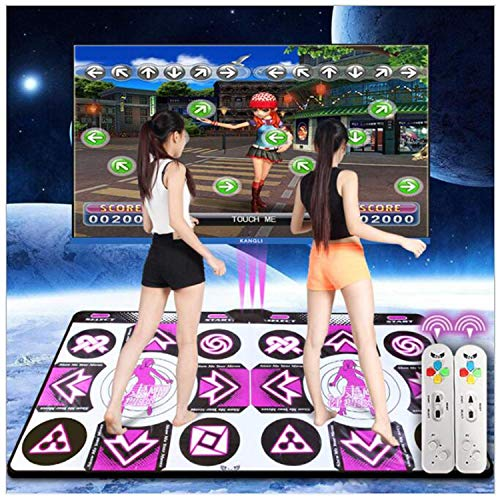 CDFHWL-C Wireless Double Dance Pad/Dance Mats Wii/Computer/TV Dual Use, Family Weight Loss Dance Carpet Pad/Foam Play Mat Thickening Soundproofing Soft Dance Mats