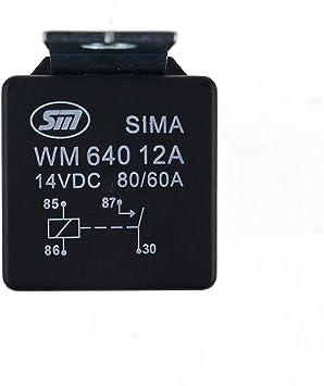 Wm640 12a Relais 12v 80a Schließerrelais Batterietrennrelais Trennrelais Auto