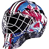Franklin Sports Colorado Avalanche Goalie Mask - Team Graphic Goalie Face Mask - GFM1500 Only for Ball & Street - NHL Official Licensed Product