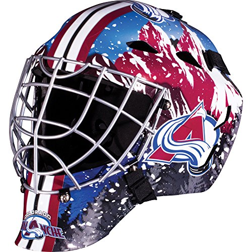 Franklin Sports Colorado Avalanche Goalie Mask - Team Graphic Goalie Face Mask - GFM1500 Only for Ball & Street - NHL Official Licensed Product -