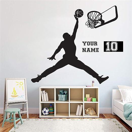 pegatinas de pared vinilo Baloncesto Jugador Habitación para ...