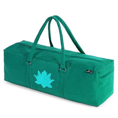 Yoga Studio Yoga Kit Bag - Bolsa de Yoga 71 x 23 x 18 cm, Bolsa de algodón para Esterilla de Yoga con Bolsillos de Almacenamiento, Cierre YKK, Color ...