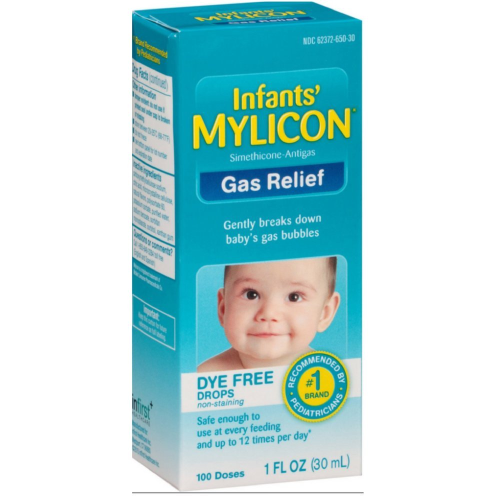 Mylicon Infant Drops Anti-gas Relief Dye Free Formula, 1.0 Fluid Ounce Per Bottle (7 Pack) by Mylicon