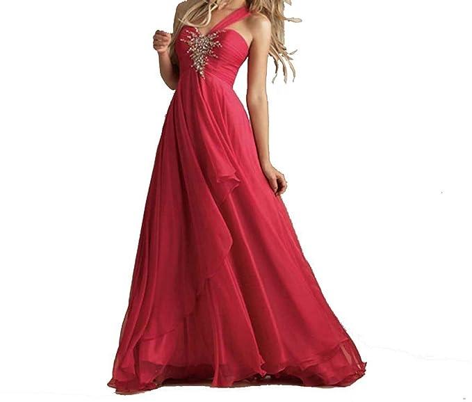 abito da cerimonia donna in chiffon damigella vestito lungo elegante  floreale da festa party - a18825586c3