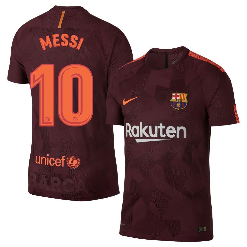 Nike Barcelona 3ª Kids Messi Jersey 2017/2018 (Oficial de impresión), Granate: Amazon.es: Deportes y aire libre