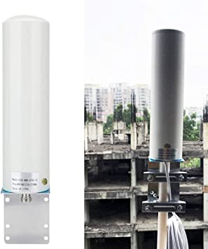Antena exterior 12dBi, alta ganancia 698-2700MHz Antena exterior 4G/3G, conector SMA macho, para interior exterior para 800900 1800 2100 2600 Mhz ...