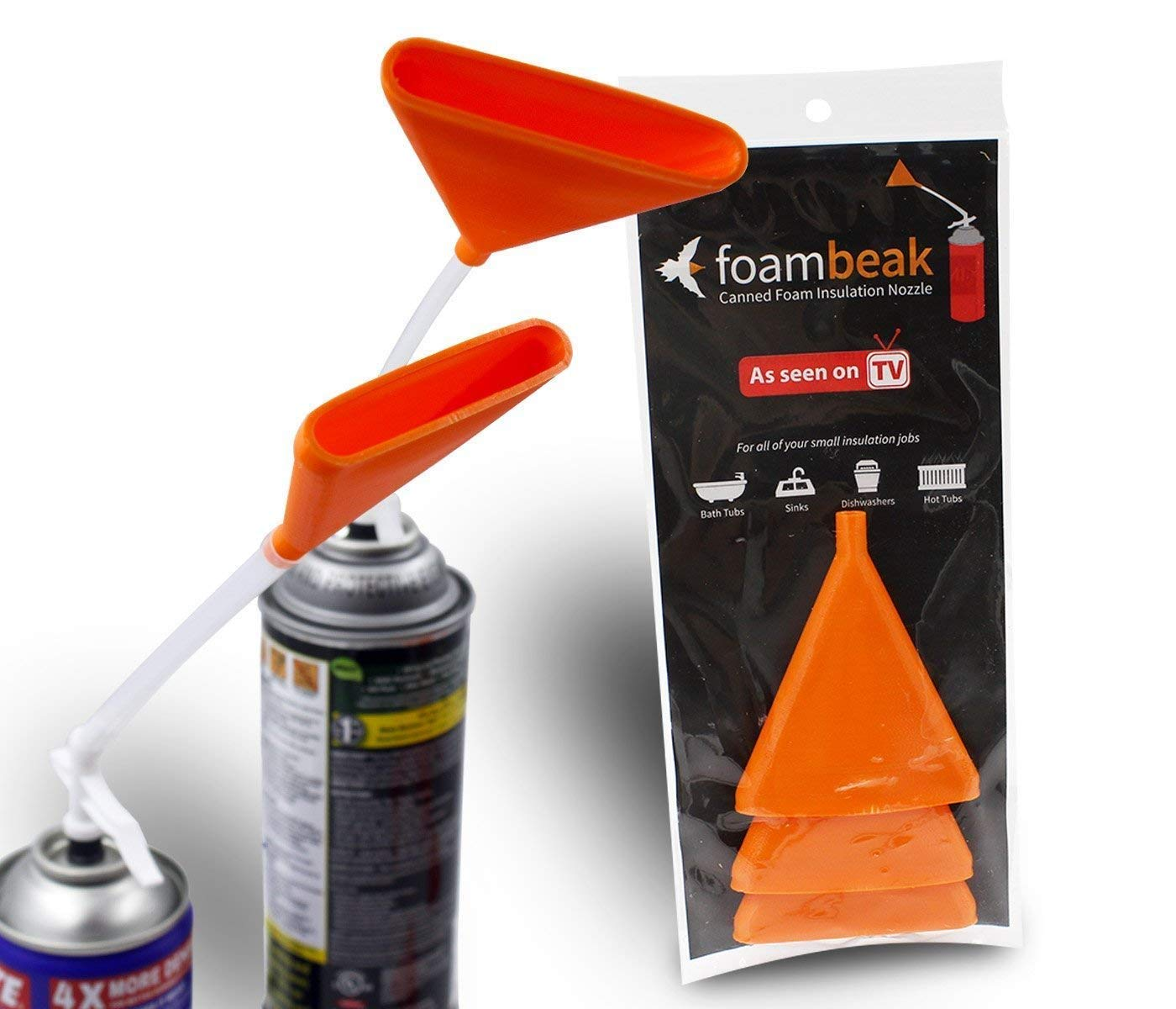 Foambeak Vertical Nozzle For Expanding Foam Insulation | A Spray Foam Insulation Can Nozzle That Widens Insulation Foam Up To 3 Inches. Perfect For Drywall Spray, Foam Spray, Insulation Spray -12 Pack
