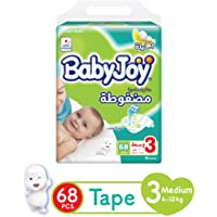Babyjoy Compressed Diamond Pad Diapers, Mega Pack Medium Size 3 Count 68-6 To 12Kg, 6281008247251