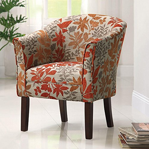 Coaster Traditional Accent Chair with Autumn Upholstery ()