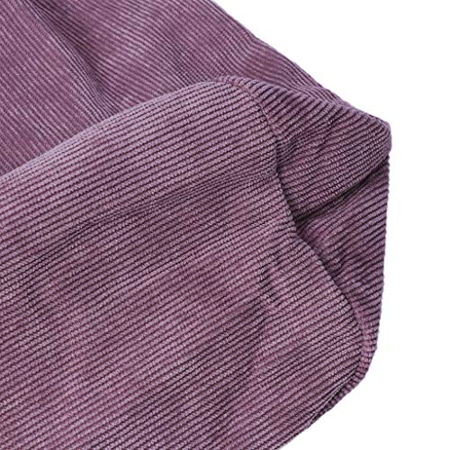 Femmes Sacs Fourre Côtelé Main Décontracté Velours En Nouvelles Capacité À Mode Provisions tout Sac Grande Pink Bandoulière Tajie 5w0v8Aqv