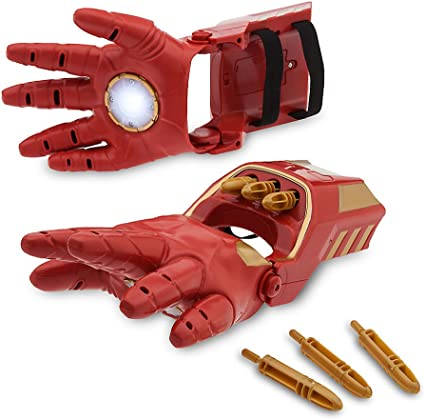 New The Avengers Iron Man 1:1 Updated Short Gloves With LED Light Hand Gloves