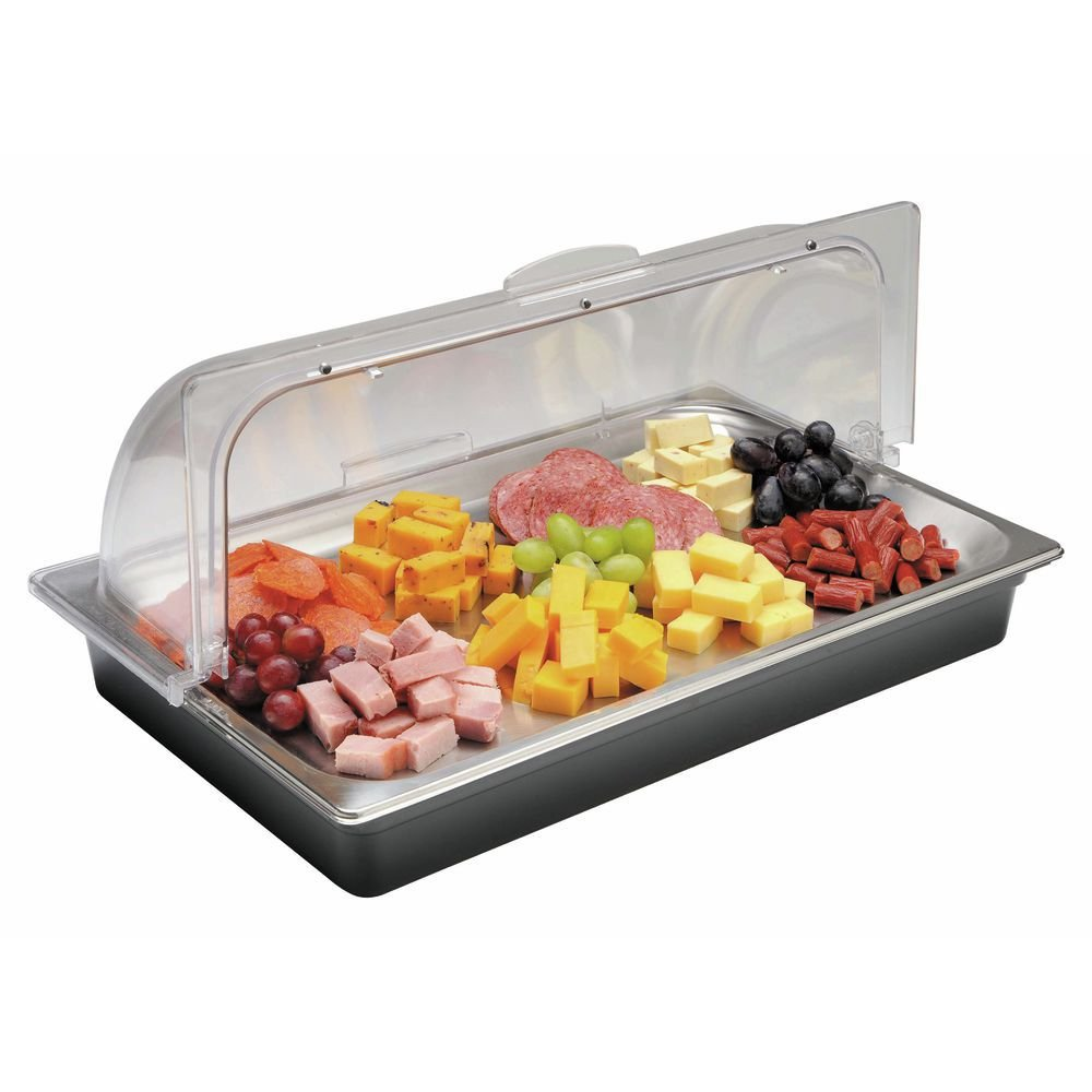 Rectangular Full Size Stainless Steel Food Display System - 21''L x 13'W x 9 1/4''H