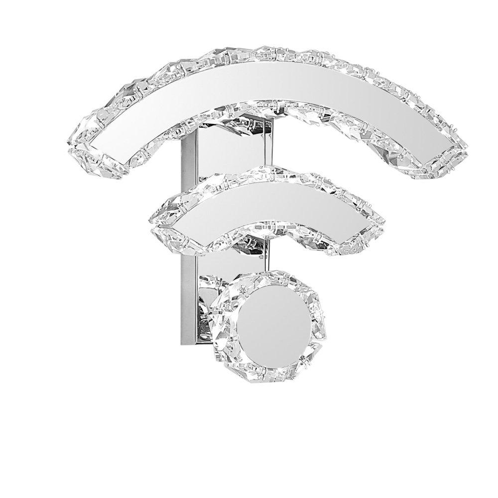 KMYX Moderne kreative Kristall LED Wandleuchte LED Lichter Gang Wandlampen für Hotel Studie Schlafzimmer Flur Treppen Neuheit WIFI Form Innenleuchte Wand Leuchte AC 110-240V (Farbe   Cold Weiß)