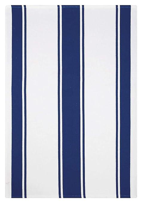 Amazon.com: MU Kitchen Classic Cotton Stripe Towel, Ink Blue ...