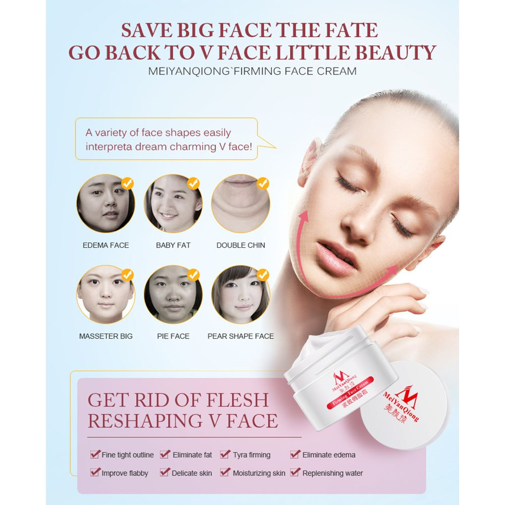 Yiwa Slimming Face Lifting And Firming Massage Cream Anti Aging Bioaqua Vshaped Mask Sheet V Shaped Shape Whitening Moisturizing Beauty Skin Care Facial