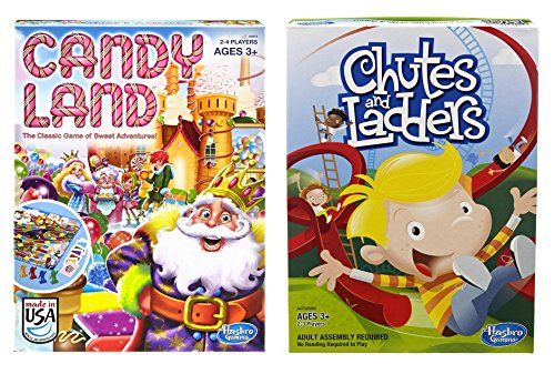 Hasbro Candyland and Chutes and Ladders Board Games (Candyland The Kingdom Of Sweets Board Game)