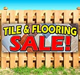 TILE and FLOORING SALE 13 oz heavy duty vinyl banner sign with metal grommets, new, store, advertising, flag, (many sizes available)