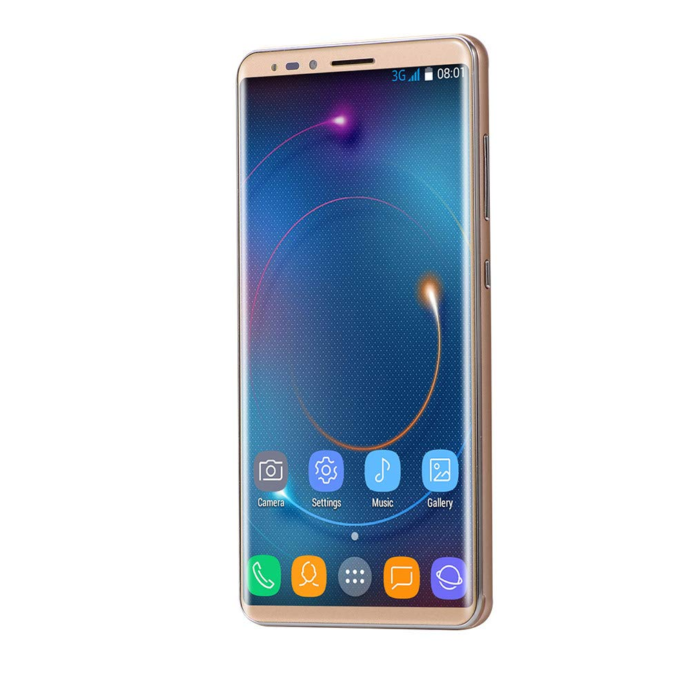 Unlocked Android Smartphone - 5.72'' Full Touch Screen - Dual HD Camera Dual SIM Cell Phones GSM/WCDMA 512M+16G GPS 3G Call Mobile Phone (Mate10, Gold)
