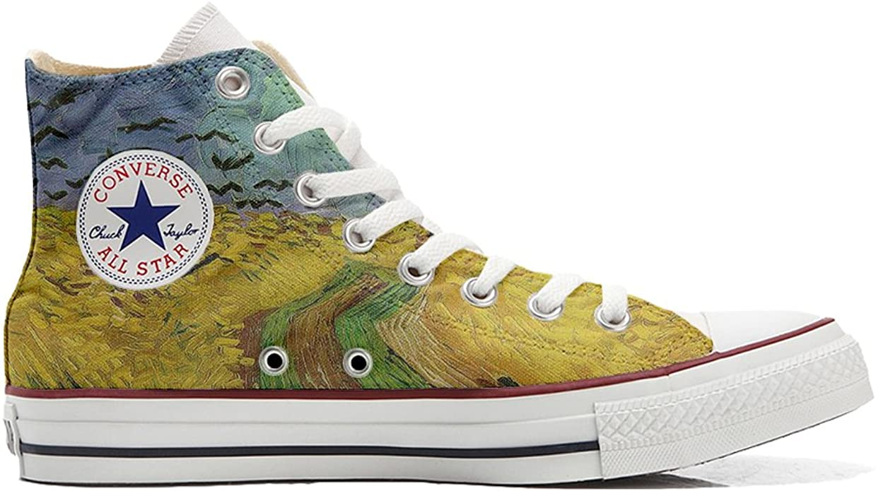 Converse shoes Women's hand printed