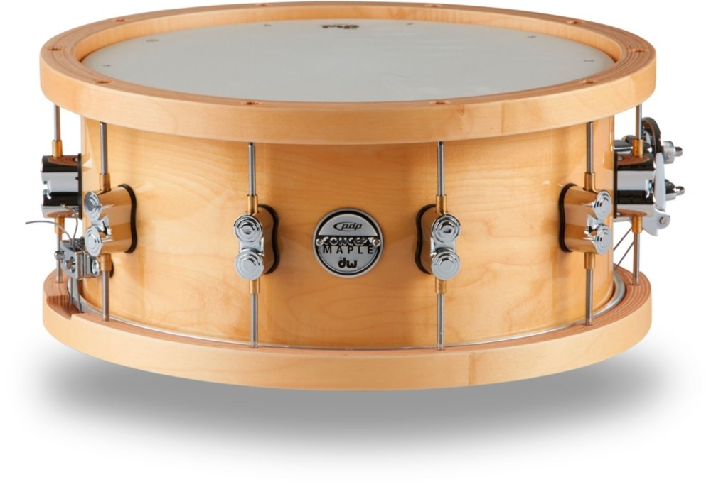 PDP by DW 20-Ply Snare Drum with Wood Hoops 14 x 6.5 in. Natural Lacquer by PDP by DW