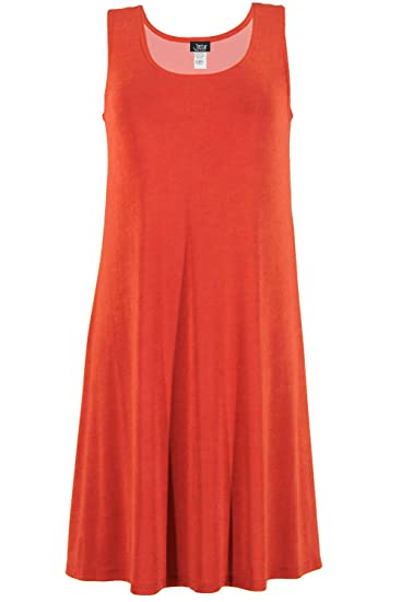6a7ae1573f6 Jostar Women s Stretchy Missy Tank Dress at Amazon Women s Clothing store
