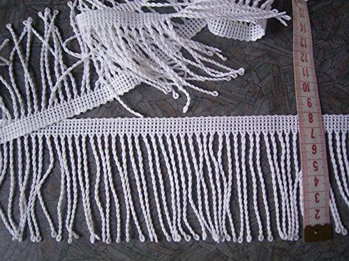 Gardinen Fransenborte Spitze weiß 8cm hoch