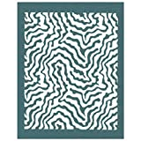 DIY Silk Screen Printing Stencil, Ready To Use Abstract Zebra Print Design, for Fabric, Wood, Ceramic, T-Shirts, and more!