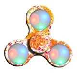 Oyedens LED Light Tri-Spinner Fidget Toy Hand Spinner Stress Reducer Relieve Anxiety and Boredom Camo (Yellow)