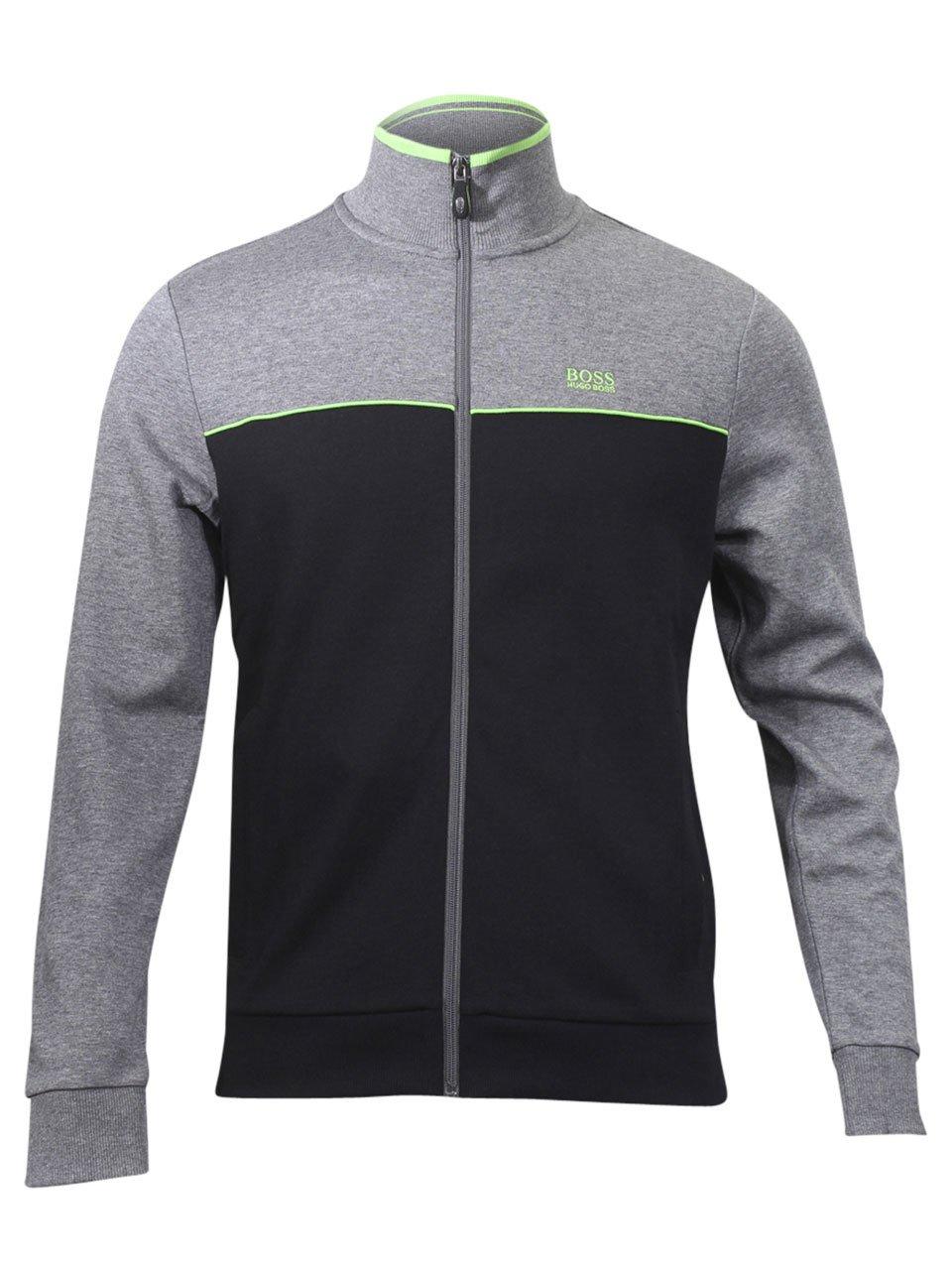 Hugo Boss Green Men's Skaz US Cotton Track Jacket Cotton Blend Black (X Large)
