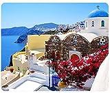 Beaches Europe Greece Santorini Mousepad,Custom Rectangular Mouse Pad