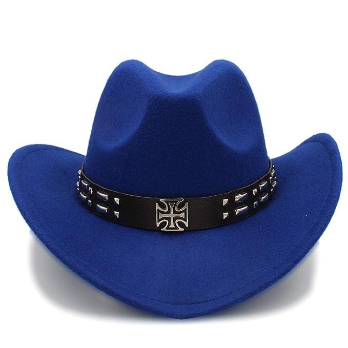 Ruanyi - Sombrero de Cowboy - para Mujer Azul 56-58 cm  Amazon.es  Ropa y  accesorios ff04b533aec