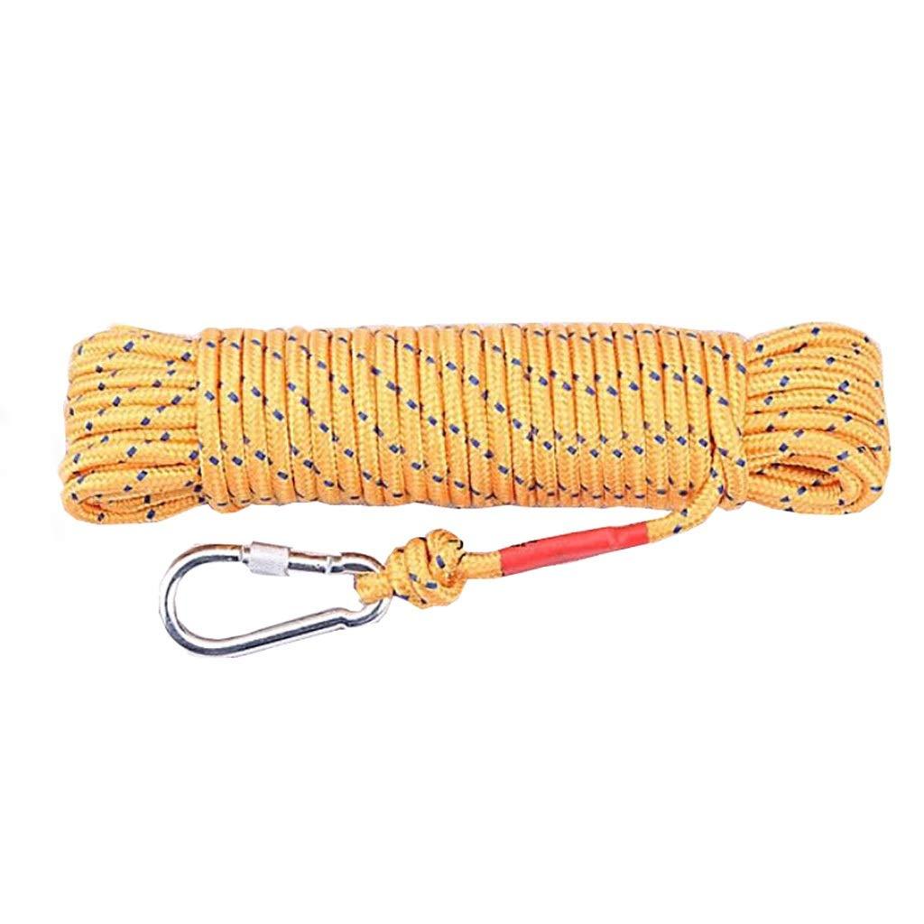 Jaune ZPWSNH Corde Parapluie en Plein air Paquet de Polyester Sec diamètre 8 mm Longueur MultiCouleure Multi-Taille en Option Corde d'escalade (Couleur   rouge, Taille   25m) 25m