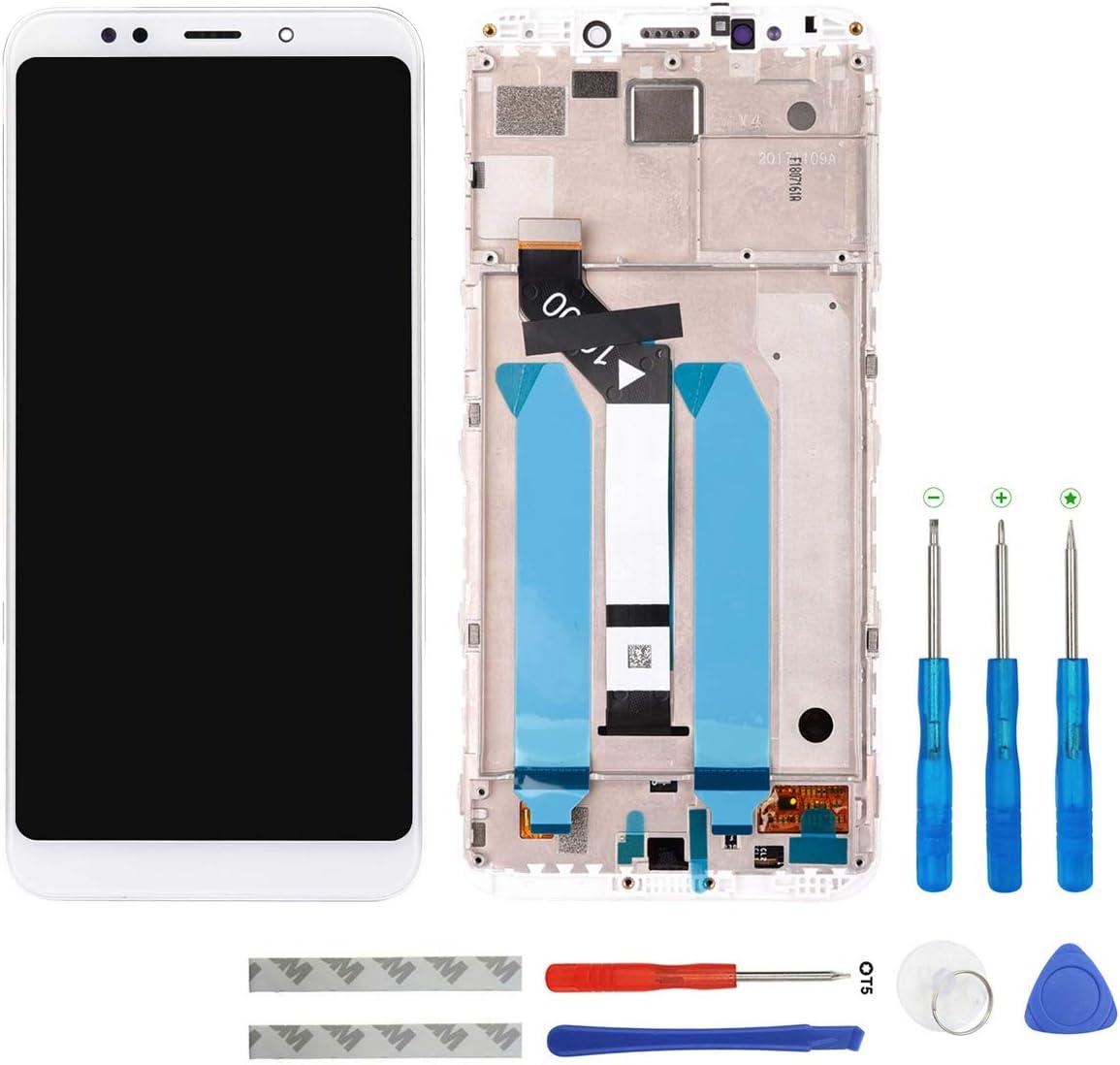 Swark - Pantalla LCD para Xiaomi Redmi 5 Plus (Incluye Marco y Herramientas), Color Blanco