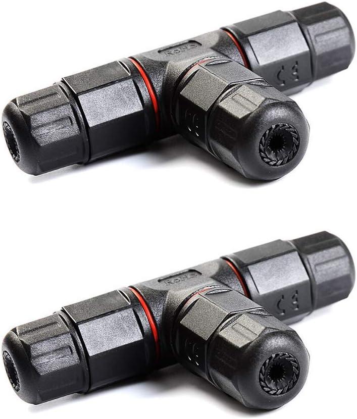 3 Way Junction//Diritto Joint Box IP68 Impermeabile Elettrico Scatola di Giunzione invecchiamento Resistenza alla corrosione Protezione TiooDre di derivazione elettrica