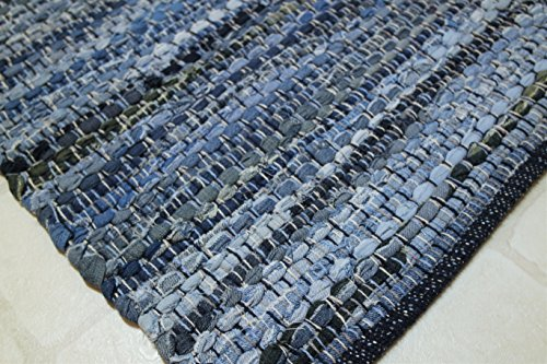 Denim Rag Rug Welcome Mat Bathroom Rug Kitchen Area Rugs