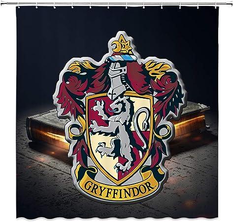 Amazon Com Amnysf Gryffindor College Emblems Decor Shower Curtain