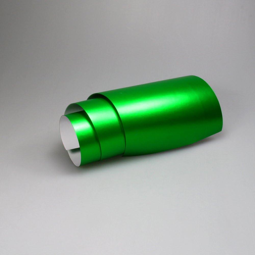 TipTopCarbon 16,45/€//m/² Chrom Autofolie Matt Ice Gr/ün 0,3m x 1,52m Auto Folie BLASENFREI mit Luftkan/älen 3D Flex