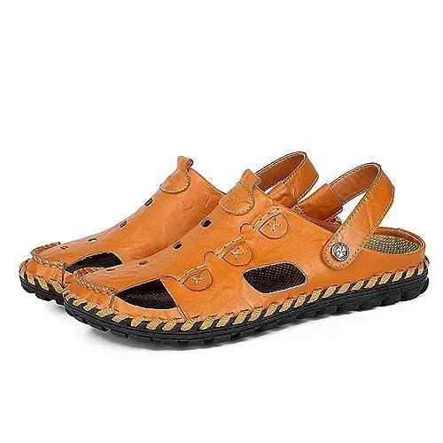 Hombres Sandalias Senderismo Verano Zapatillas Trekking Deportivas Casuales Pescador Cuero Playa Zapatos Moda: Amazon.es: Zapatos y complementos