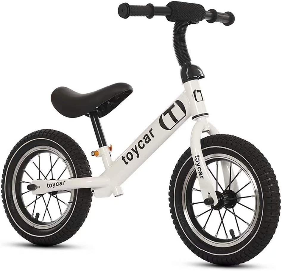 Balance bike bicicleta para niños 2-6 años scooter para niños sin pie tobogán para niños (blanco)