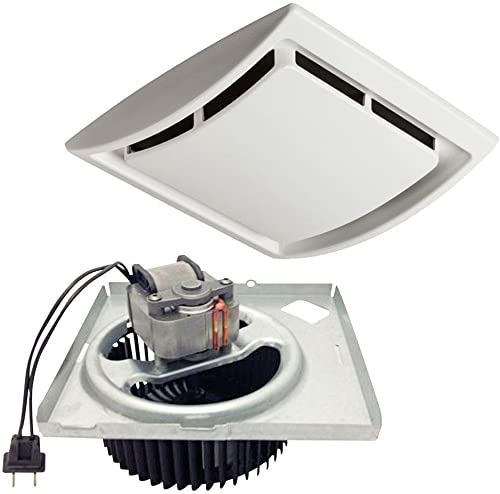 iPower 10 Inch Shutter Exhaust Fan Aluminum Controller and Power Cord Kit,High Speed 1630RPM, 705CFM, 1-Pack, Silver