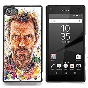 "For Sony Xperia Z5 Compact Z5 Mini (Not for Normal Z5) Case , Md doctor Actor Retrato Hombre Pintura"" - Diseño Patrón Teléfono Caso Cubierta Case Bumper Duro Protección Case Cover Funda"