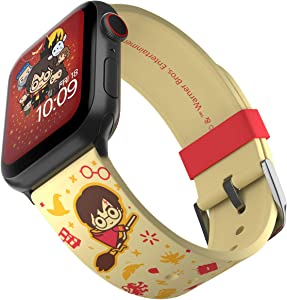 Harry Potter - Cartoon Edition – Officially Licensed Silicone Smartwatch Band Compatible with Apple Watch, Fits 38mm, 40mm, 42mm and 44mm