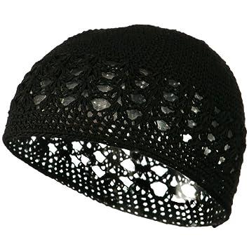 Cotton Kufi Cap - Black OSFM W14S17D at Amazon Men s Clothing store ... a0f8be808b2