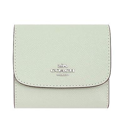 3e341e3a10bd Amazon   [コーチ] COACH 財布 (三つ折り財布) F87588 ペールグリーン レザー スモール 三つ折り財布 レディース [ アウトレット品] [ブランド] [並行輸入品]   財布