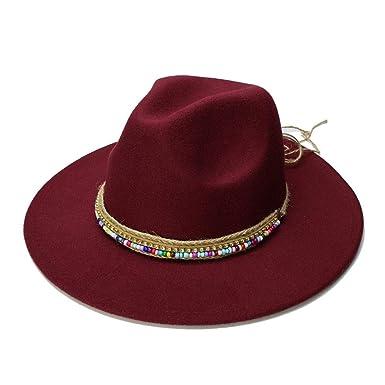 SRY-Caps Wool Fedora Hat Hawkins Felt Cap Wide Brim Ladies Trilby Chapeu  Feminino Hat b768dcedb4da