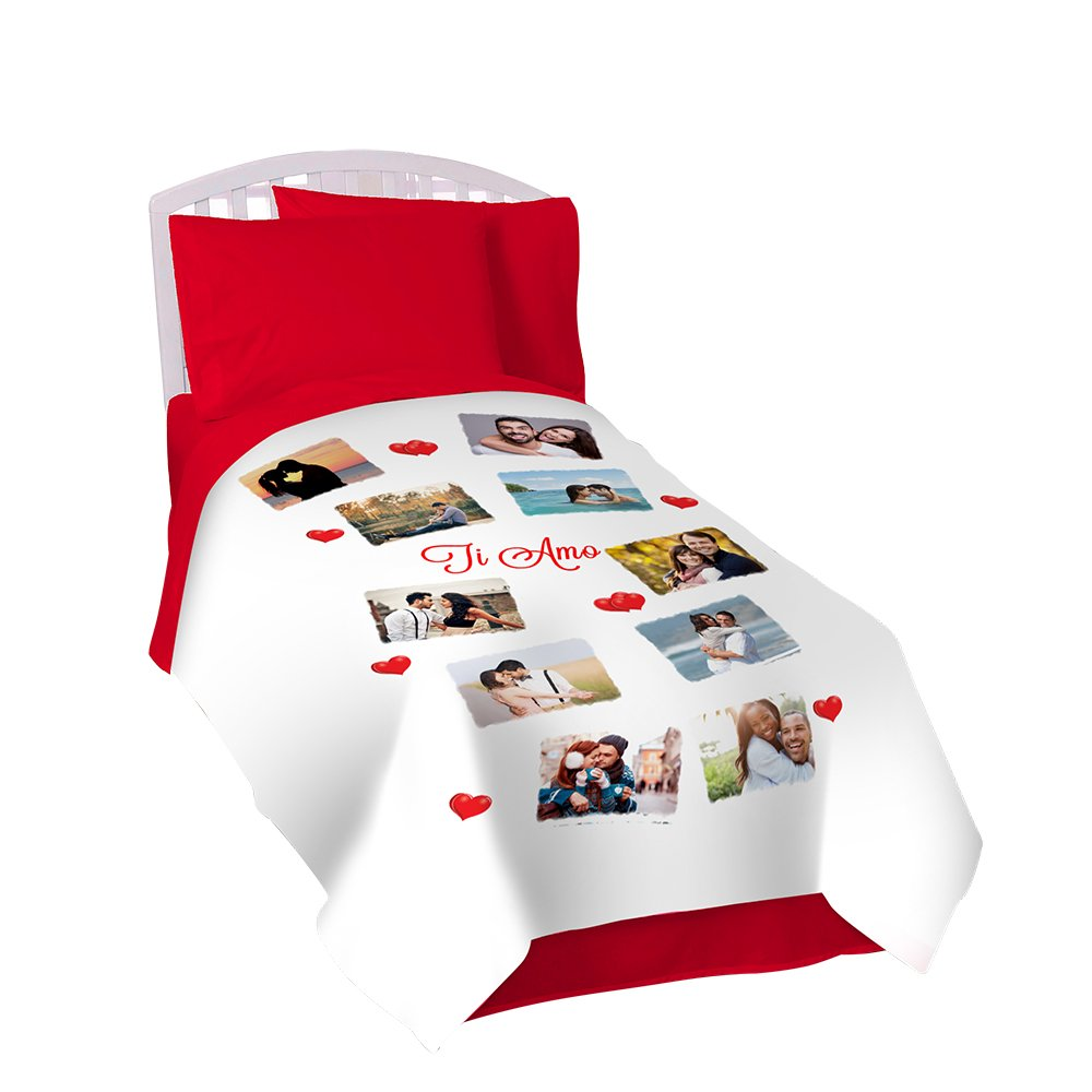SCONTOFOTO Coperta Personalizzata in Pile Plaid 130x170 con Foto, Scritte e Loghi
