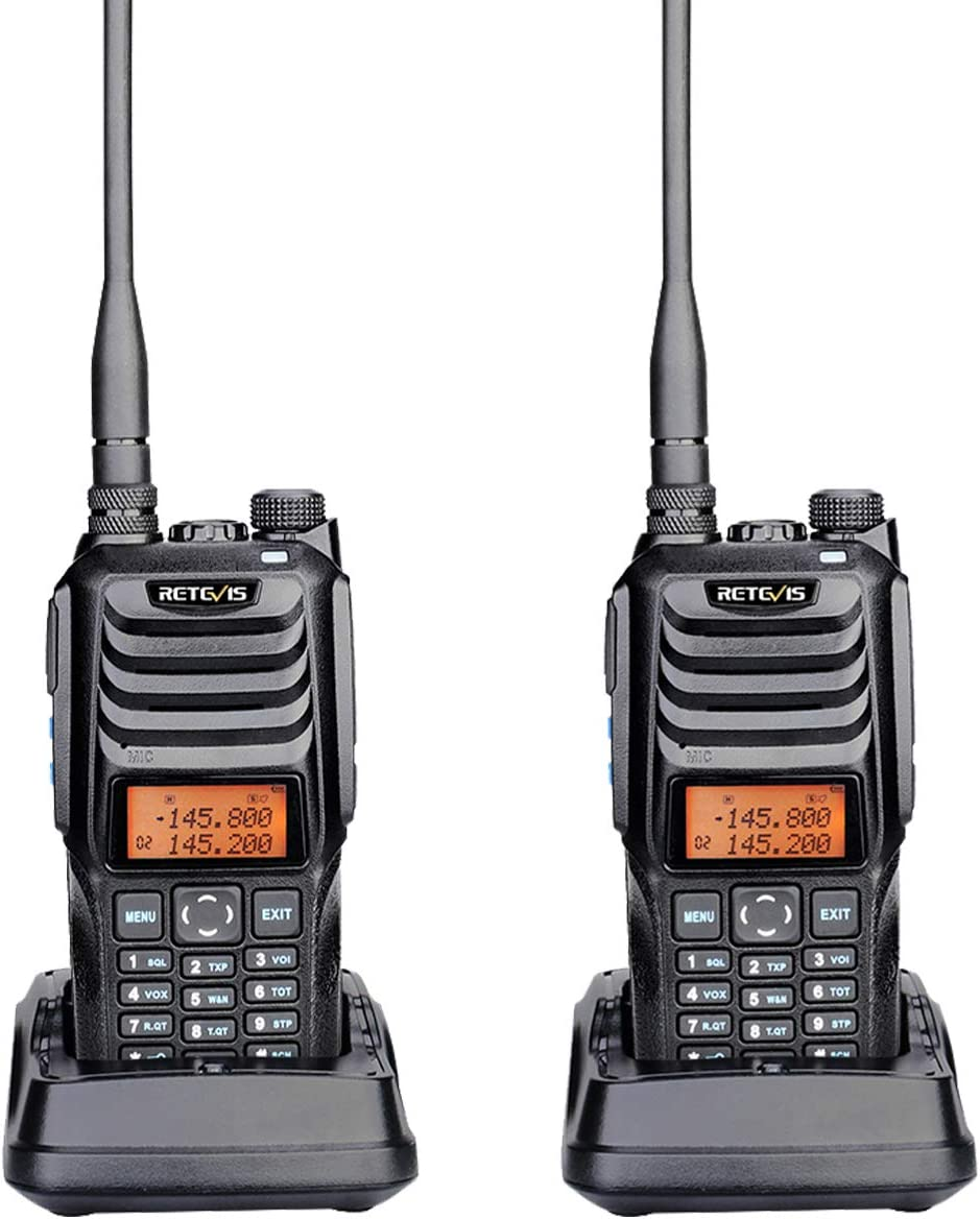 Retevis RT56 Waterproof Walkie Talkies Explosion-Proof Heavy Duty Security Two Way Radio,Long Range Dual Band Two Way Radio for Adults (2 Pack)