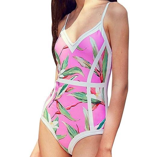 Go First Mujer Monokini Trajes de baño Bikini de Espalda ...
