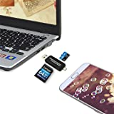 Black Multifunction Micro USB OTG to USB 2.0